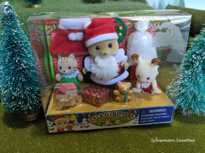 Calico Critters Merry Christmas Santa and Babies Set 2010