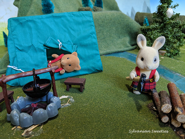 UK Camping Set. Buster and Austin love to be outdoors!