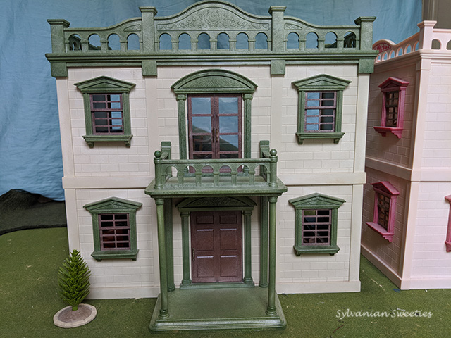 The Urban Life Mansion came out in 1987 and my sister got it as a holiday gift. It's so elegant! The building is in OK shape, but has roof damage and some of the floors are warped. Wallpaper was put on by a 10 year old so it isn't perfect.