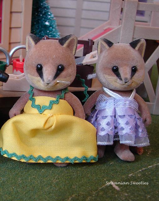 Custom dresses for Renard Fox girls